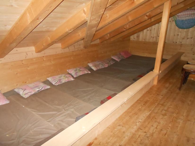 Matratzenlager Übernachtung